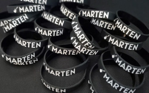 "Marten Andersson Wristband Benefiting The ""Cure Alzheimer's Fund"" A portion of each wristband will go to the Cure Alzheimer's Fund in memory of my dad"