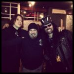 Marten with twisted sisters drummer A.J. Pero and former Anthrax singer Neil Turbin